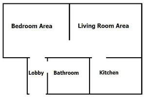 1 bed flat floorplan